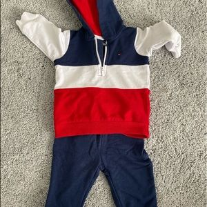 Baby Tommy Hilfiger sweatsuit! Worn once.